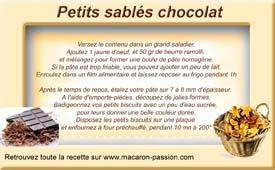 étiquette pots sablés chocolat blog