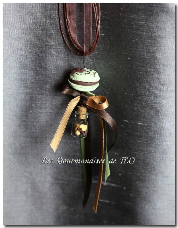Macaron à la parisienne chocolat pistache