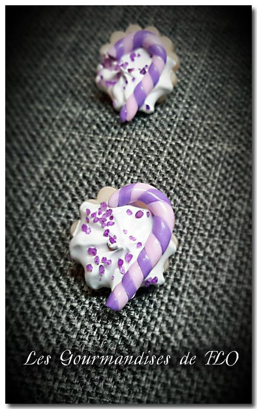boutons gourmands candycane violet