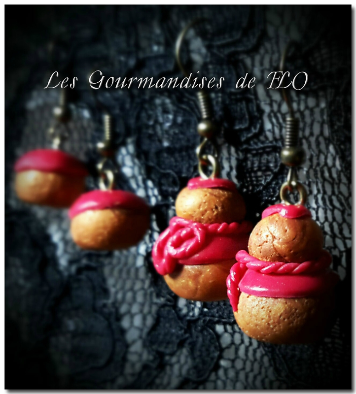 Petits choux framboise(collection La Gourmandise est un joli défaut)