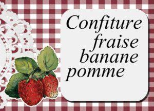 confiture fraise banane pomme