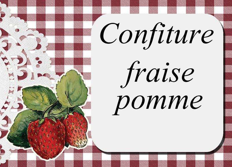confiture fraise pomme