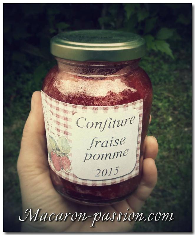Confiture fraise pomme C