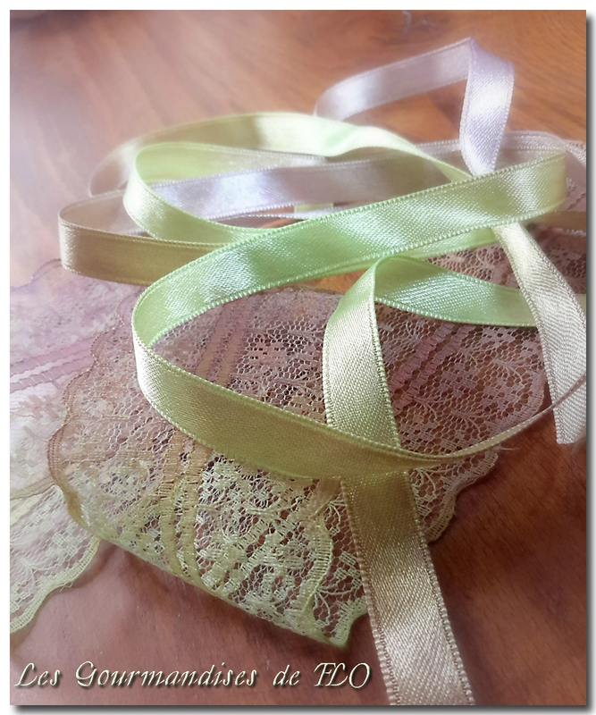 ruban teint vert marron 5