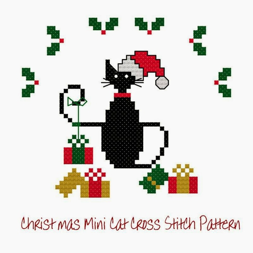 Lynn B mini christmas cat 2014