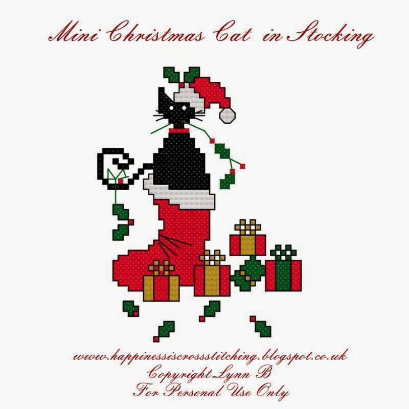Mini cat in christmas stocking