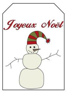 étiquette noel hiver 1