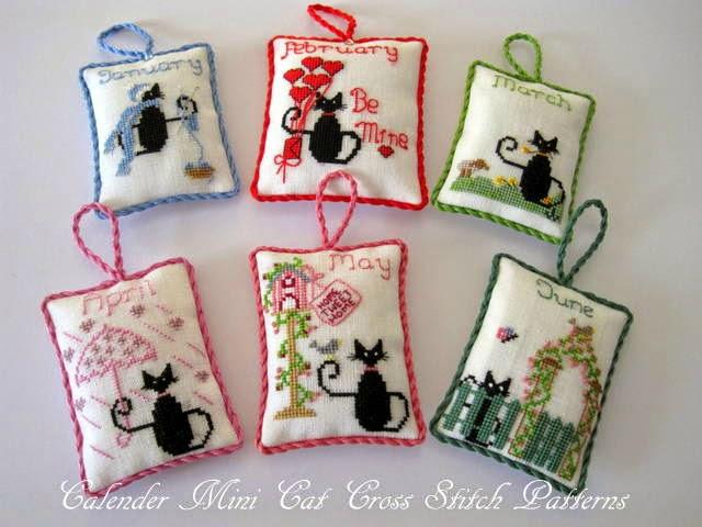 Black cat cross stitch patterns