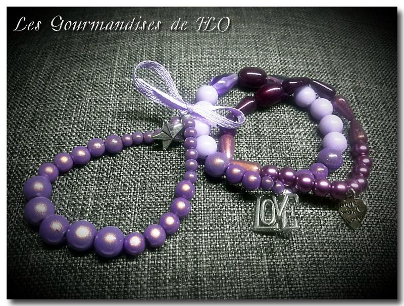 bracelet violet 3