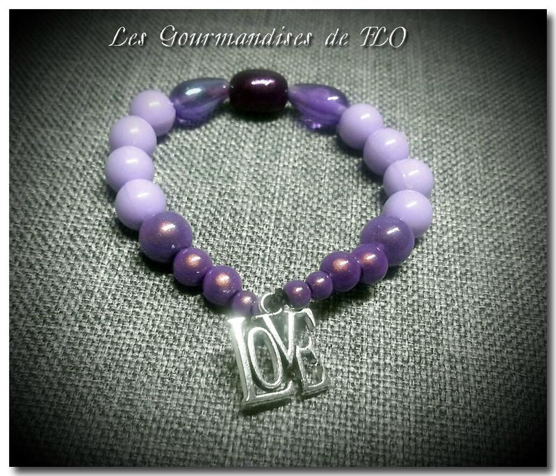 bracelet violet 4