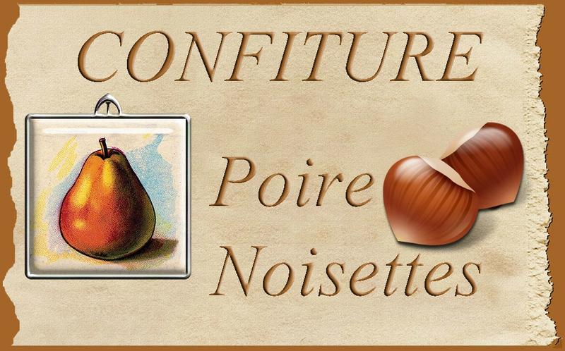 confiture poire noisette blog