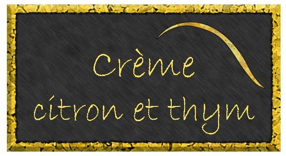 crème citron thym étiquette