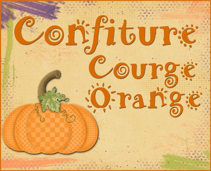 confiture courge orange
