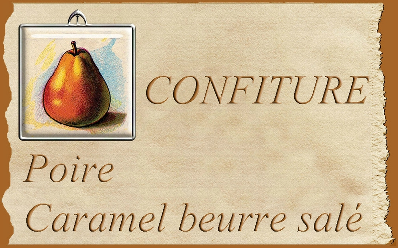 Confiture poire caramel blog
