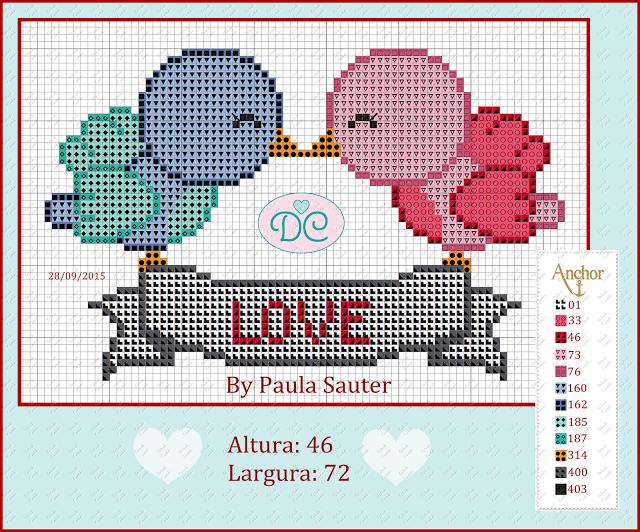 Pássaros Love By Paula Sauter
