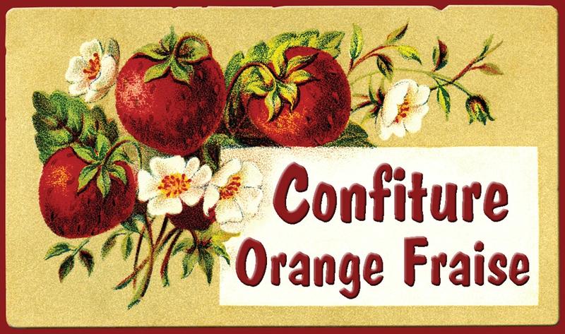 confiture orange fraise