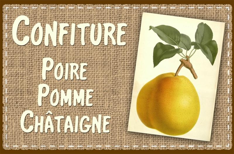 confiture poire pomme chataigne