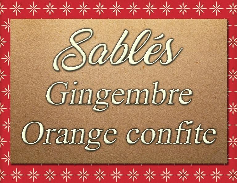 Etiquette sablés gingembre orange