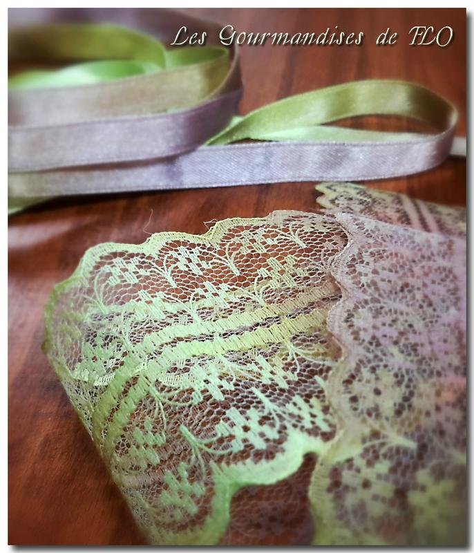 ruban teint vert marron 1