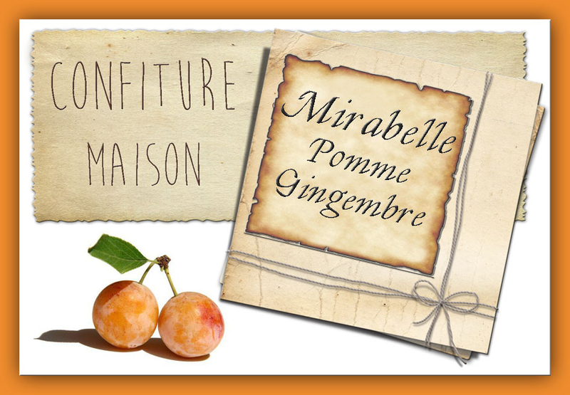 confiture mirabelle pomme gingembre