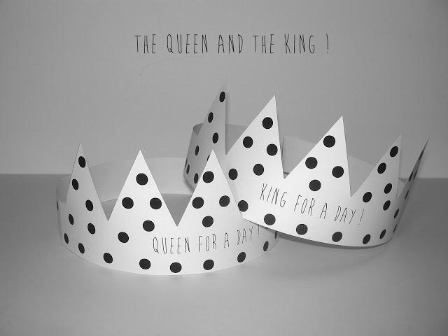 couronne fête des rois imprimer télécharger gratuit épiphanie galette design joli girly roi reine 2