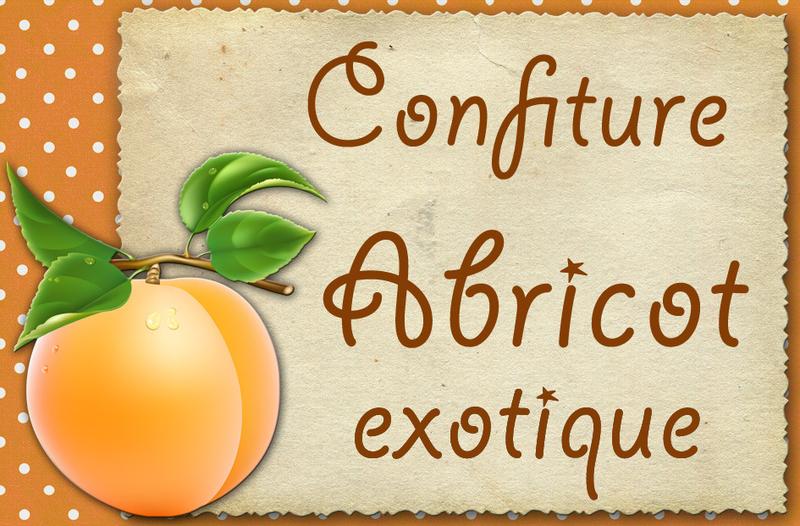 confiture abricot exotique