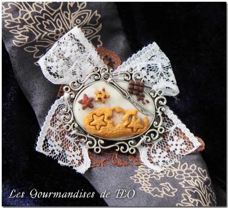 broche biscuits Noël
