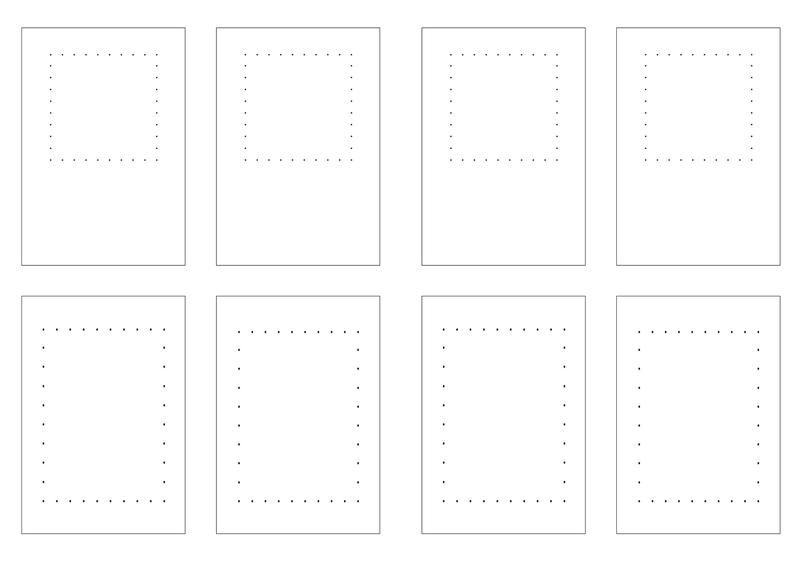 cartes carré rectangle fils petits