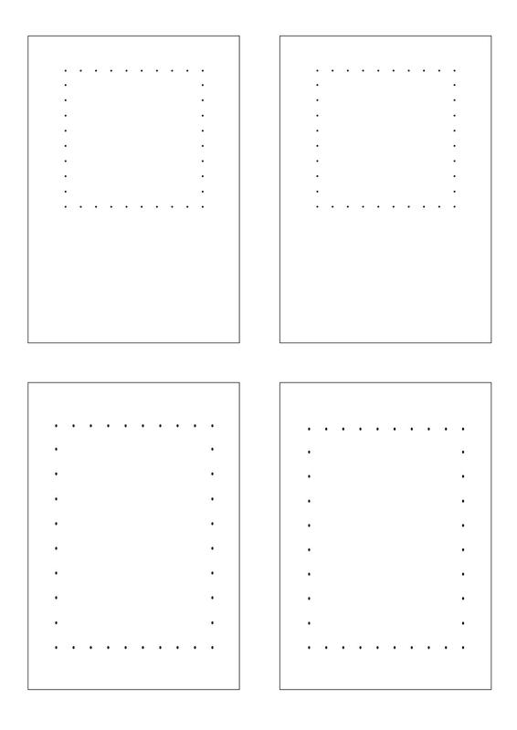 cartes carré rectangle fils