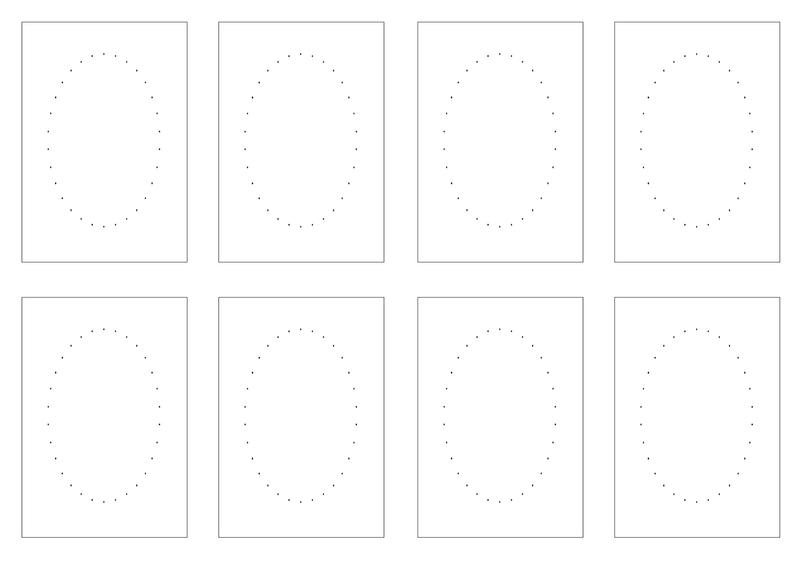 cartes oval fils petits